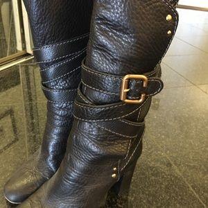 Chloé Designer Black Leather Boots - PADDINGTON